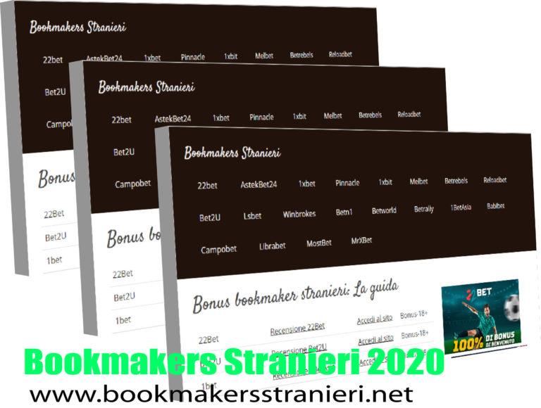 Bookmakers Stranieri 2020 in Italy